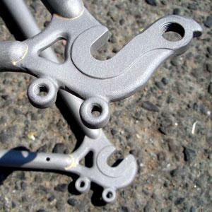 Sandstrahlen von Fahrradrahmen